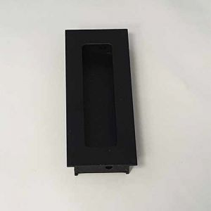 Schuifdeurkom recht zwart, 110 mm