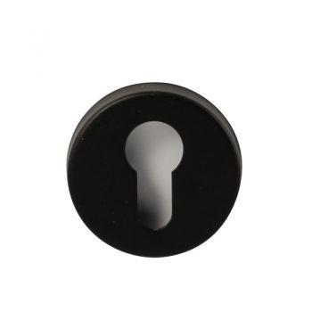 Rozet vario-rond dun 304 cilinder zwart