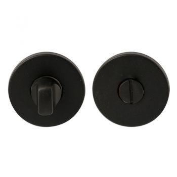 Wc-garnituur vario-rond dun 304 8mm zwart