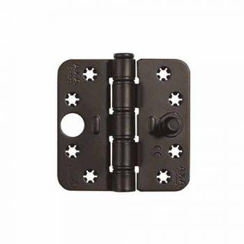 Veiligheids glijlager scharnier Axa, type 1687 SKG3 , zwart  89x89x3mm