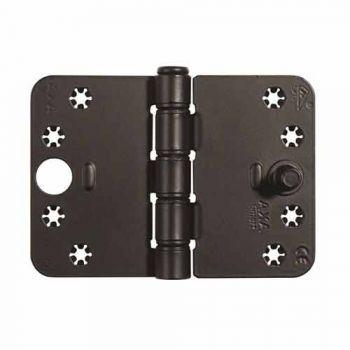 Veiligheids glijlager scharnier Axa, type 1687 SKG3 , zwart  89x125x3mm